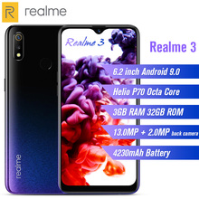 Realme 3 4G Smartphone 6.2 inch Android 9.0 Octa Core 3GB RAM 32GB ROM 13.0MP + 2.0MP Rear Camera 4230mAh Battery Mobile phone стоимость
