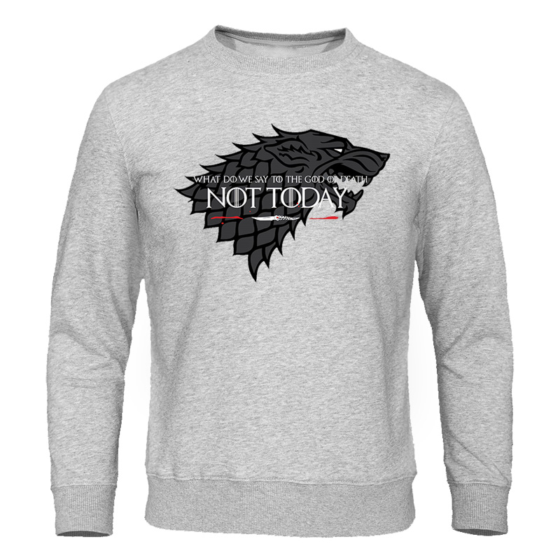 Game Of Thrones TV Show Men Hoodies Sweatshirts Not Today Print Hoodie Sweatshirt Mens Streetwear Casual Fashion Brand Tracksuit