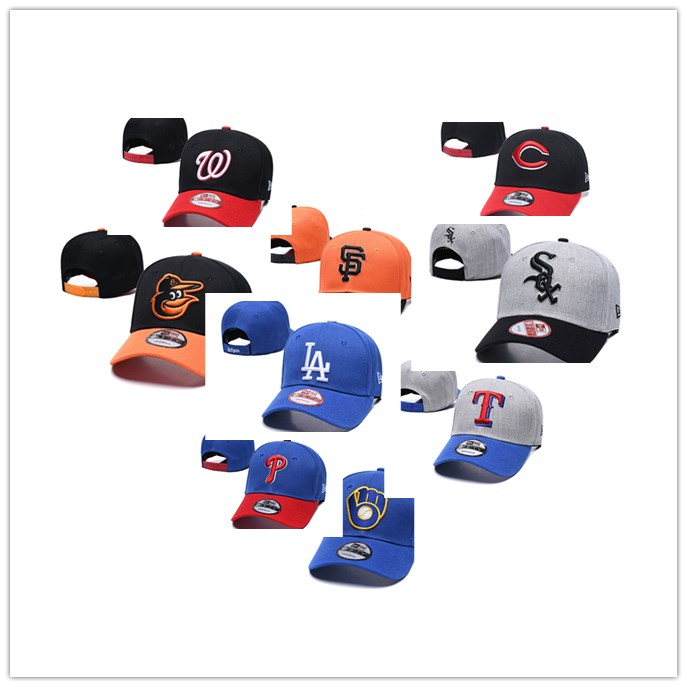 Dad Hats Snapback-Hats Baseball-Caps La-Gorras-Braves Dodgers Hip-Hop-Bone White Women title=