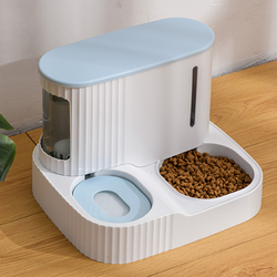 Pet Cat Bowl Dual-Use Dog for Feeder Bowls Kitten Automatic Food Drinking Fountain 3L Capacity Puppy Feeding Waterer Products