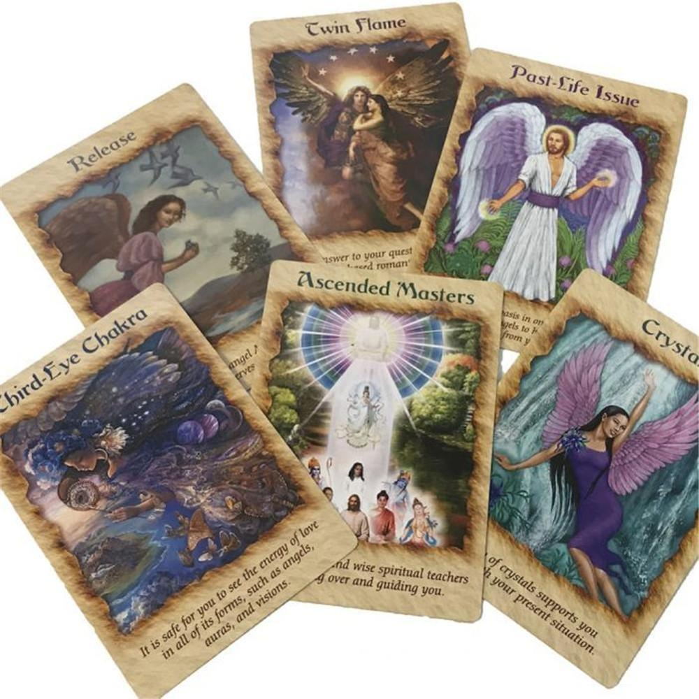 44Pcs Angel Therapy Oracle Cards Tarot Cards Deck Board Game English Version Tarot For Women Family Party Funny Table Games