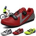 Хит продаж, дышащая обувь для горного велосипеда для мужчин и женщин, подходит для Shimano, черная, красная, зеленая, универсальная велосипедная...