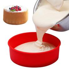 Factory wholesale 6-Inch Silicone round Cake Oven Dish  Mold Household Non-stick Baking Tools