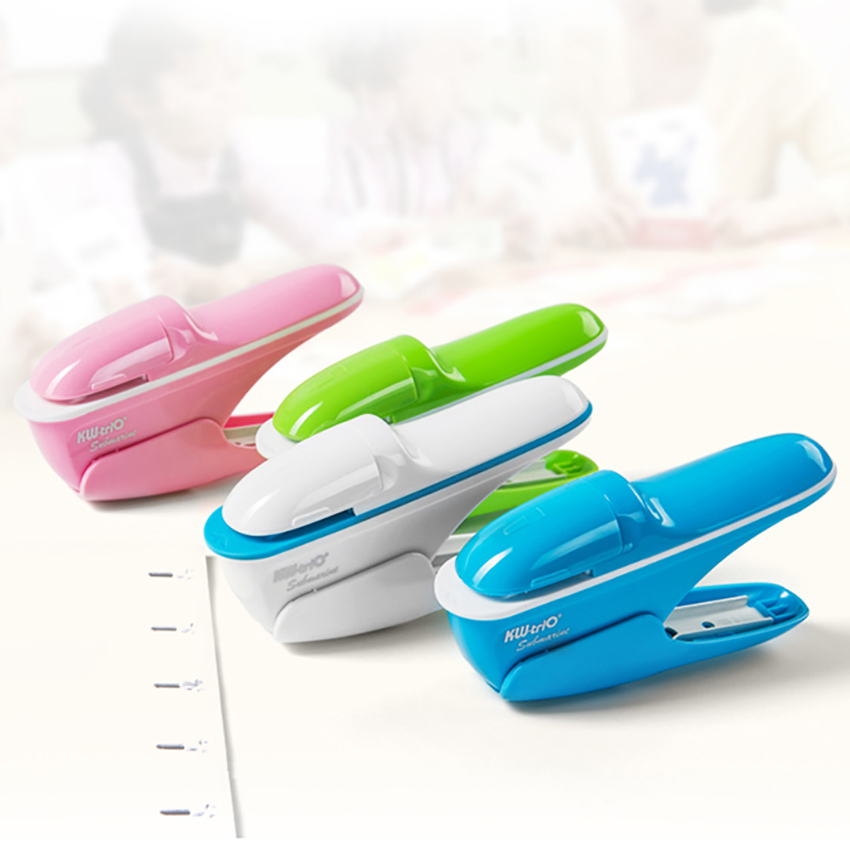Stapleless Stapler Nail-free Stapling Machine Paper Fixed Students Stationery Office Supplies Safe Staplers Books Binding