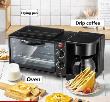 Multifunctional three in one breakfast machine household electric oven toaster frying pan mini oven air frying pan new special price large capacity intelligent oil smoke free fries machine automatic electric frying pan 220v 3l