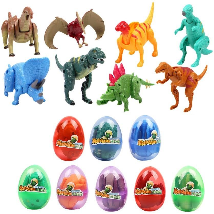 Jungen Kinder Transformation Dinosuar Dino Ei Modell Action Figure Spielzeug