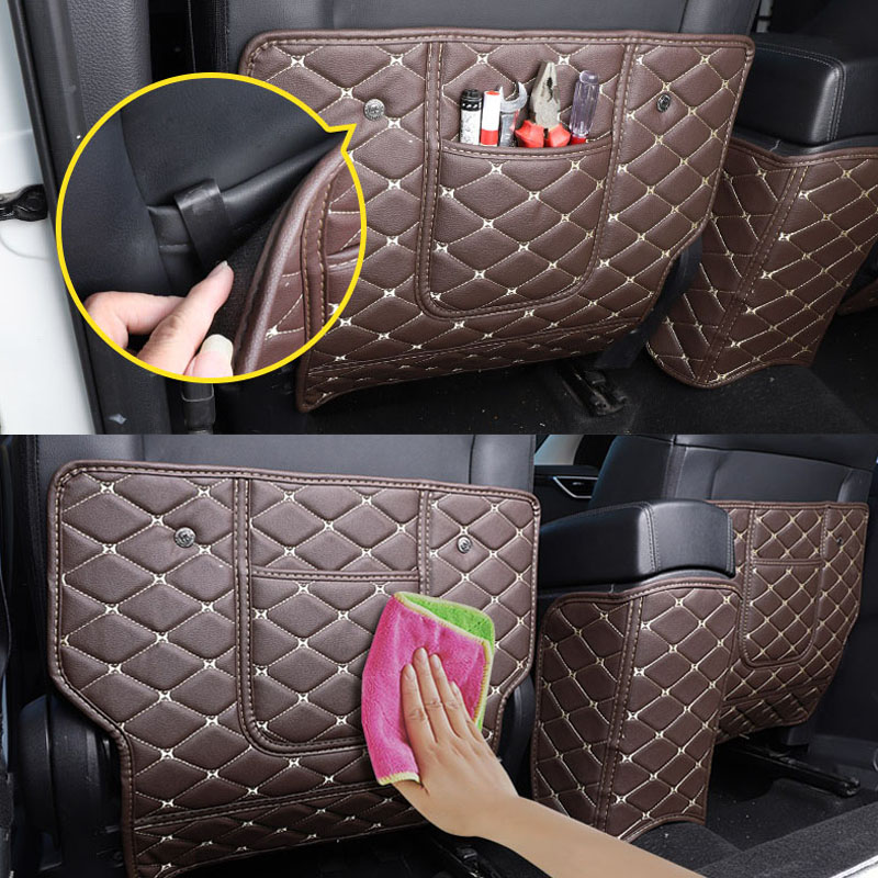 Car Rear Seat Anti-Kick Pad Rear Seats Cover Back Armrest Protection Mat For <font><b>Nissan</b></font> <font><b>Qashqai</b></font> J11 2016 <font><b>2017</b></font> 2018 Car <font><b>Accessories</b></font> image