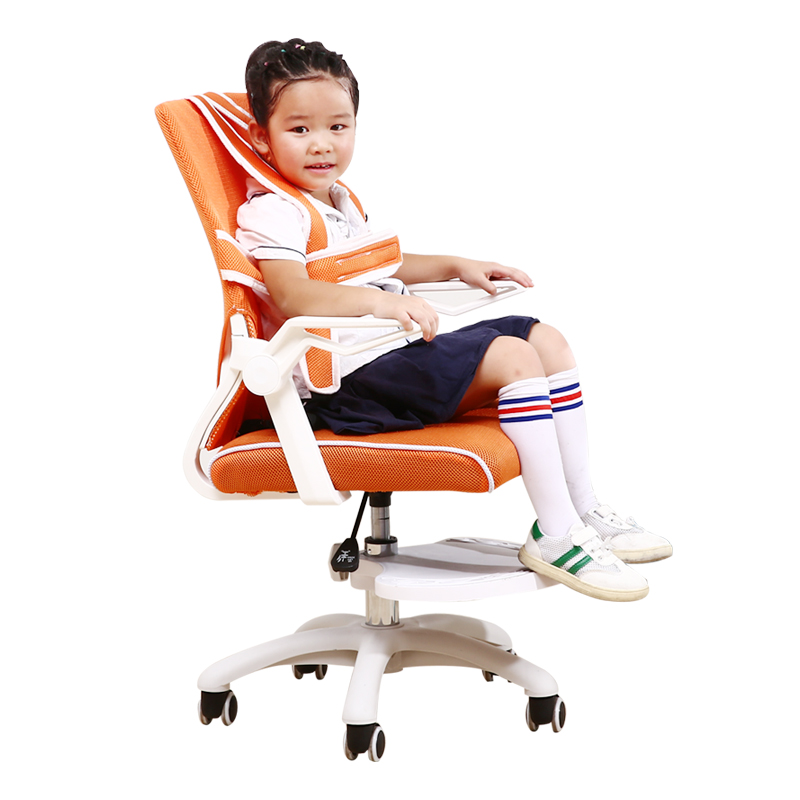 H1 Children's Study Chair Home Writing Chair Primary School Seat Posture Correction Lifting Stool Adjustable Backrest Computer