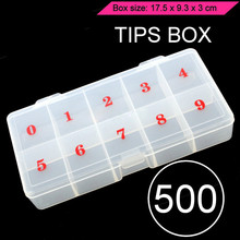 10 Grids Adjustable Jewelry Tool Box Beads Pills Organizer Nail Art Tip Storage Box Case Hard Transparent Plastic Storage Box 1pcs transparent plum blossom travel vacations pills jewelry necklace pills electronic materials and accessories storage box