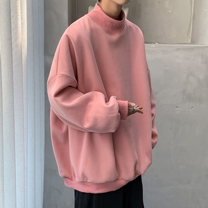 Autumn Korean Hoodie Men's Fashion Casual Stand-up Collar Sweatshirt Men Streetwear Loose Hip-hop Pullover Hoodies Mens M-5XL