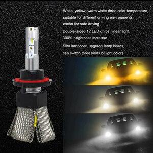 Image 5 - 3000K 4300K 6000K LED H7 Auto Scheinwerfer H4 H7 H11 LED Glühbirne CPS Auto Styling Lampen lampada LED Für H1 9006 hb4 9005 hb3 H11