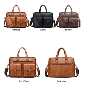 Image 3 - Celinv Koilm Men Business Bag For 133 inch Laptop Briefcase Bags Set Handbags High Quality Leather Office Bags Totes Male