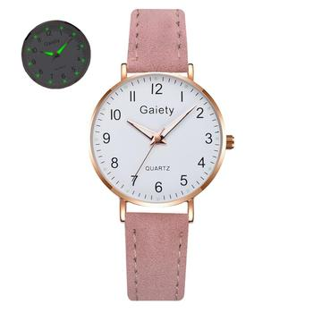 2021 NEW Women Watches Simple Vintage Small Watch Leather Strap Casual Sports Wrist Clock Dress Wristwatches Reloj mujer - G667-PK