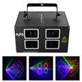 AUCD 4 линзы DMX 500 МВт RGB цветное сканирование луча проектор лазерные огни Рождественский диско светодиодный DJ вечерние движущиеся лучи шоу сце...