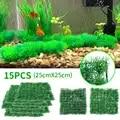 15 pièces d'eau artificielle aquatique vert herbe plante pelouse Aquarium Aquarium Aquarium paysage