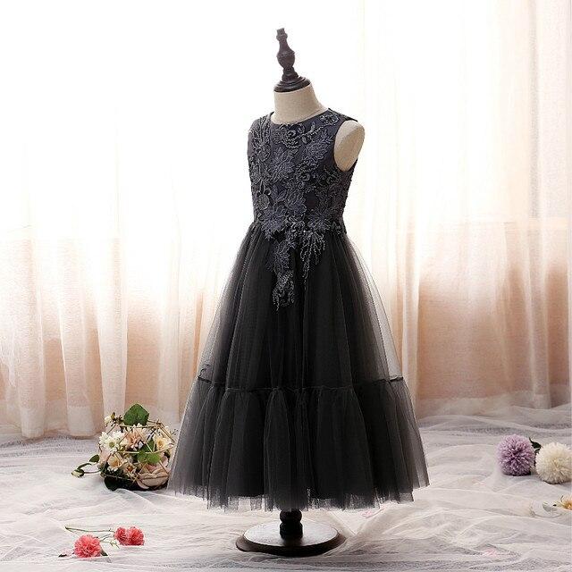 2020 Neue Madchen Abendkleid Elegante Schwarz Prinzessin Kleid Kinder Kleidung Blume Madchen Traum Hochzeit Zeremonie Kleid 2 14 Jahre Flower Girl Dresses Aliexpress