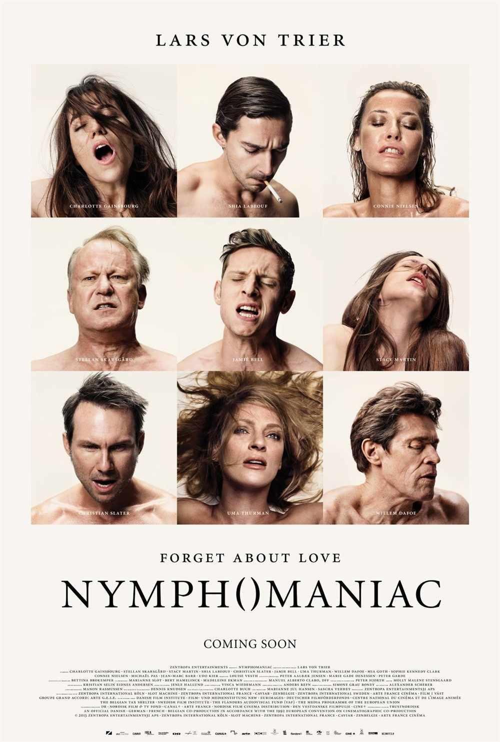 Nymphomaniac Film Christian Slater Uma Thurman di Seta Poster da Parete Decorativa Pittura 24X36 Pollici
