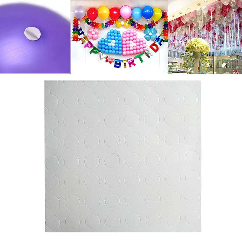100 pontos/conjunto balão de cola, balão de cola dupla face adesivo de parede de balão para festa de aniversário e teto acessório