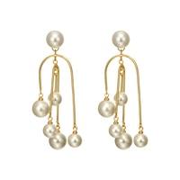 French retro irregular pearl long Pendant Earring girl earrings
