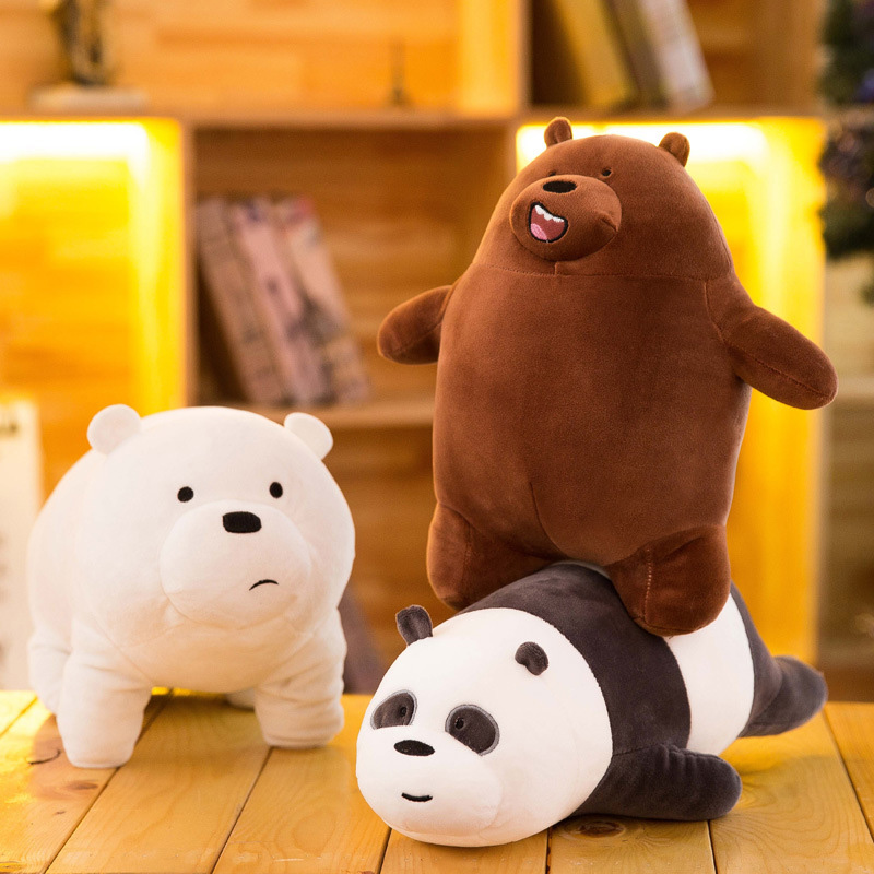 Cartoon We Bare Bears Plush Toys Panda Polar Brown Bear Stuffed Animals Dolls Soft Toys Kids Children Kawaii Doll For Kids Gift