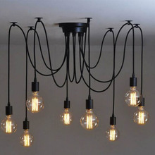 Vintage Chandelier Ceiling Spider Light Industrial Pendant DIY Nordic Retro Edison