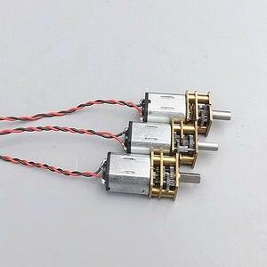 DC 3V 3,7 V 6V N20 Motor Mini Micro engranaje de Metal con engranaje de reducción de precisión engranaje D eje DIY Robot cerradura de puerta eléctrica