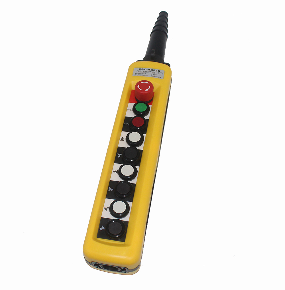 Guindaste de Levantamento Botão de Controle de Condução Lidar com Interruptor Estação de Controle Dois-velocidade Grua Elétrica Tnha Pushbutton Pingente Xac-a8913 8