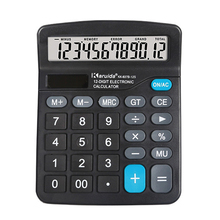 Настольный электронный калькулятор, стандартная функция, основной счетчик, большие кнопки, двойная мощность, на солнечных батареях, для офиса, бизнеса