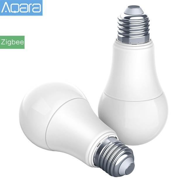 Lâmpada led original aqara zigbee, versão inteligente, lâmpada remota para xiaomi mijia mi home, app, homekit, gateway