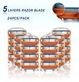 Бритвенные Лезвия для мужчин, сменные t-образные головки из нержавеющей стали, 5 слоев, для Gillette Fusion