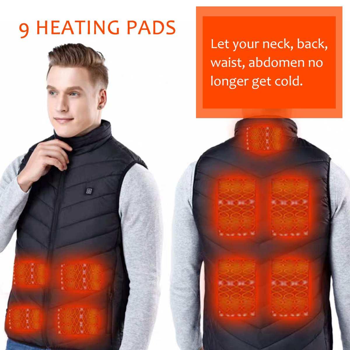 Gilets chauffants électriques vêtements d'hiver hommes électrique USB thermique tactique veste chauffante pour le Sport de plein air Camping randonnée chasse