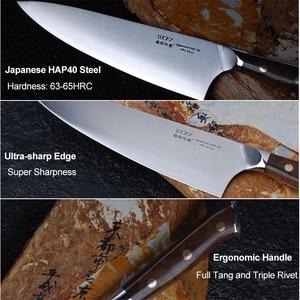 Image 3 - 24cm שף מטבח סכין יפני HAP40 פלדה גבוהה פחמן סופר חד בשר פילה דג חיתוך בישול המטבח סכיני 28