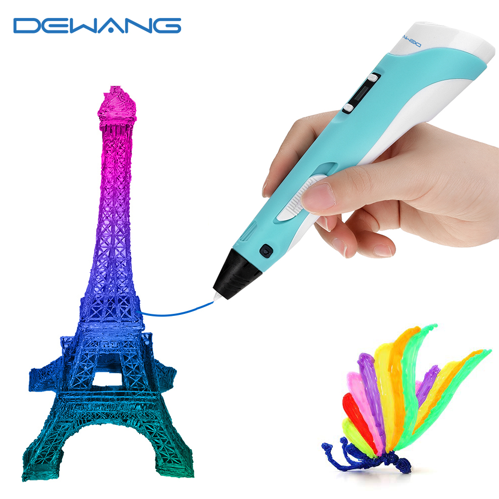 DEWANG 3D עט לילדים 3D ציור הדפסת עט עם LCD מסך תואם PLA ABS נימה צעצועים לילדים יום הולדת מתנת קרפט