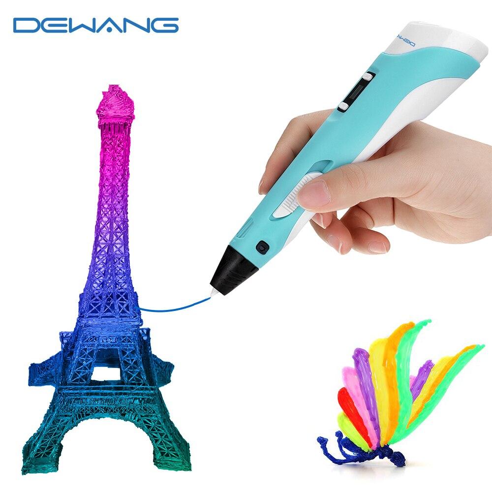 Dewang 3d caneta para crianças 3d desenho impressão caneta com tela lcd compatível pla abs filamento brinquedos para crianças presente de aniversário ofício