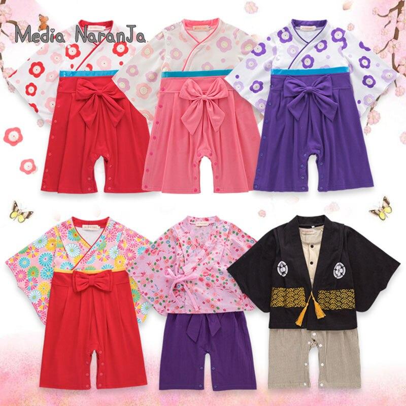 Кимоно Детское хлопковое в японском стиле, комбинезон для маленьких мальчиков и девочек, 5 типов, одежда для малышей