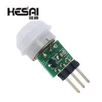 Mini ir piroelétrico infravermelho pir movimento sensor humano módulo detector automático am312 sensor dc 2.7 a 12 v|Sensores| |  -
