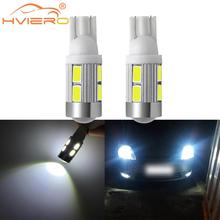 Free Shipping 2 X 5630 SMD 10 LED 10SMD T10 W5W Auto Car Light Bulb 194 168 12V Interior Parking Projector Lens patriot pa 445 t10 x treme
