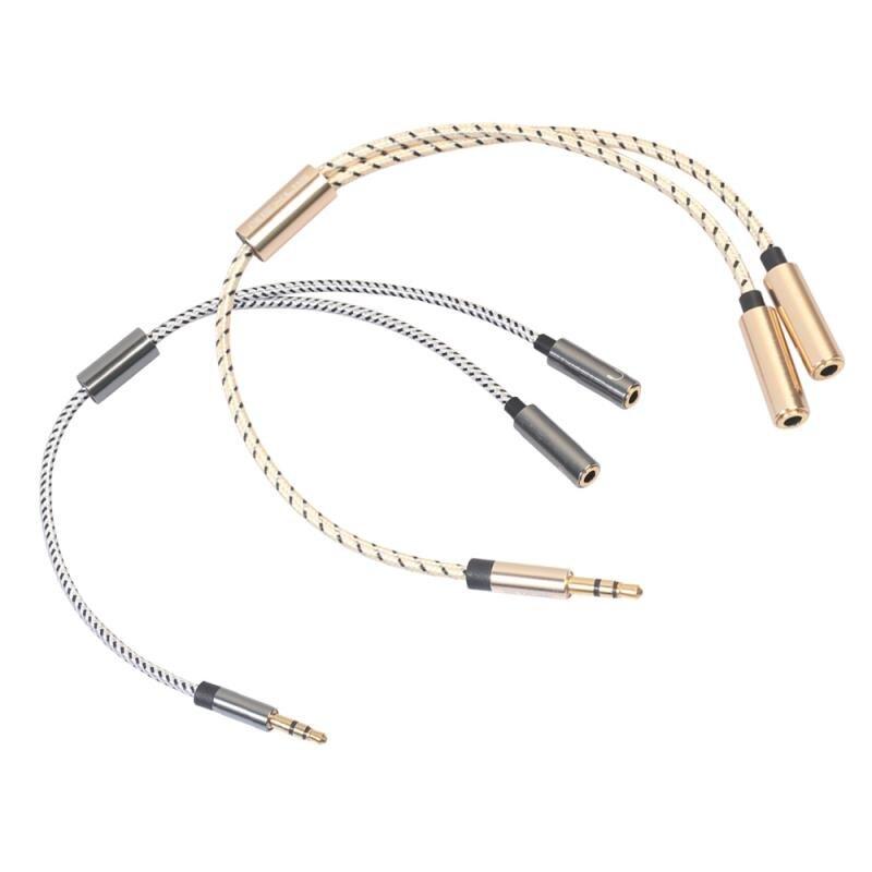 Пара наушников аудио кабель Y сплиттер кабель 3,5 мм 1 штекер 2 двойной женский аудио кабель для Huawei Xiaomi друг кабель TXTB1