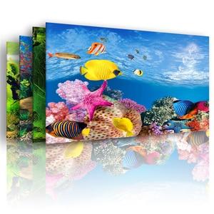 Image 3 - Pôster de fundo de aquário, fundo dupla face de pvc para decoração de parede de tanque de peixes 30/40/50cm (altura)