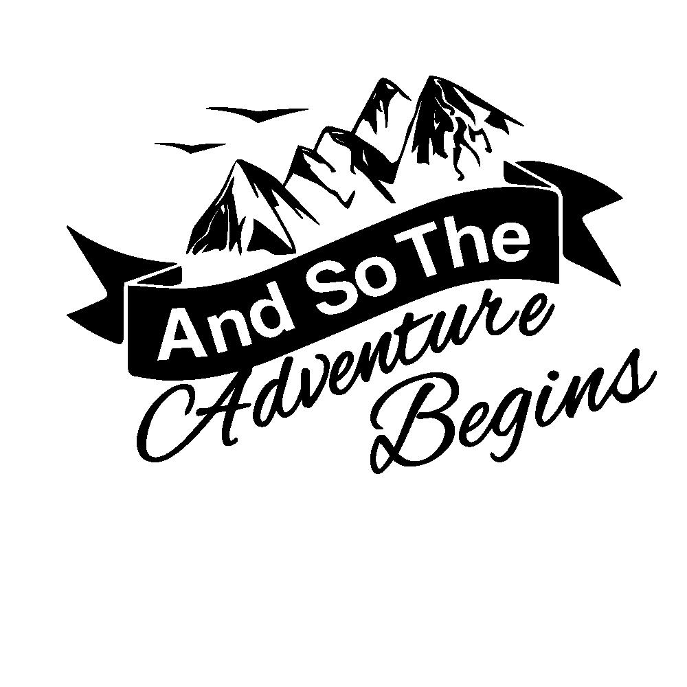 Горячая компас и горы Приключения Автомобиля Стикер Обертывание Винил художественный узор Декор автомобиля стикер s аксессуары