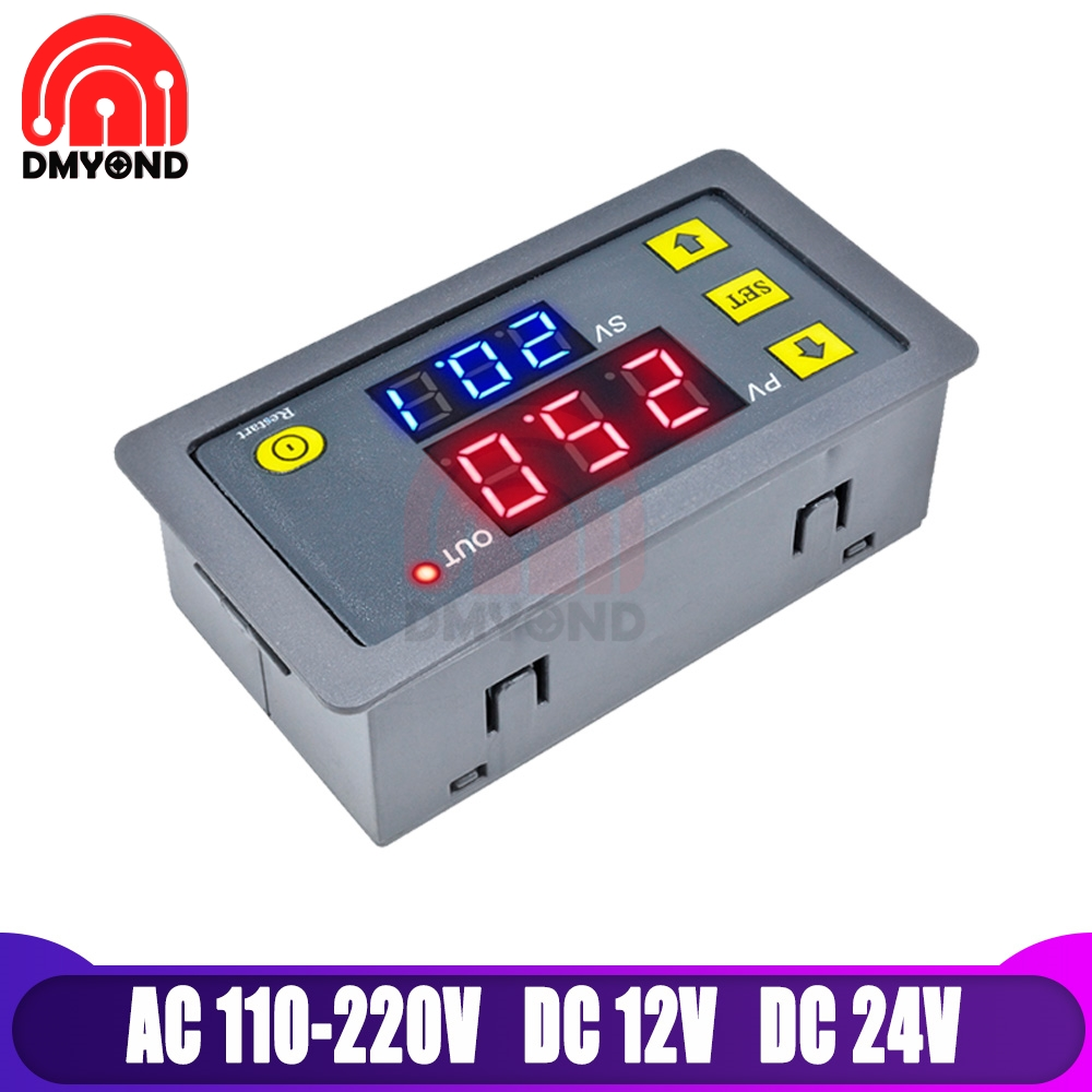 DC <font><b>12V</b></font> Digital Time Delay Relay Board <font><b>Module</b></font> with LED Dual Time Display Timing Relay Switch Ajustable <font><b>Power</b></font> <font><b>Supply</b></font> Thermolator image