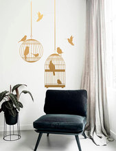 Birds In The Cage Wall Sticker Vinyl Home Decor Room Flying Birds Wall Decals Removable Murals Nursery Wallpaper Modern 3690 10pcs free dhl for oneplus x lcd display with touch screen digitizer with frame assembly black