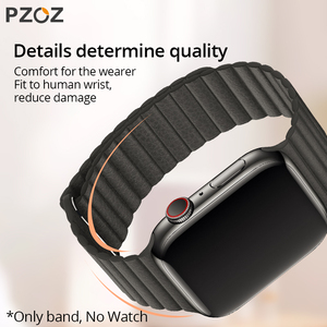 Image 4 - PZOZ Leather strap Replacement Sport Band For Apple Watch Series 1 2 3 4 5 42mm 44mm Wrist Bracelet Leather Strap 38mm 40mm