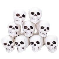 12 sztuk dużo mały rozmiar czaszki gadżety na halloween grób metrów dekoracje w Figurki i miniatury od Dom i ogród na