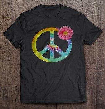 Boho Hippie Tie Dye Flower Peace Sign T-Shirts