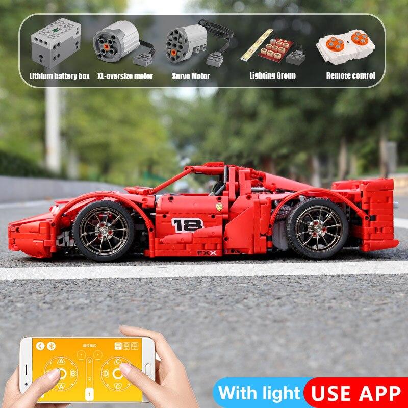 Yeshin 13085 Motor Funktion Auto Die 1: 8 Red Racing Sport Auto Set APP RC Technic Auto Kinder Weihnachten Geschenke Bausteine Ziegel-in Sperren aus Spielzeug und Hobbys bei  Gruppe 3