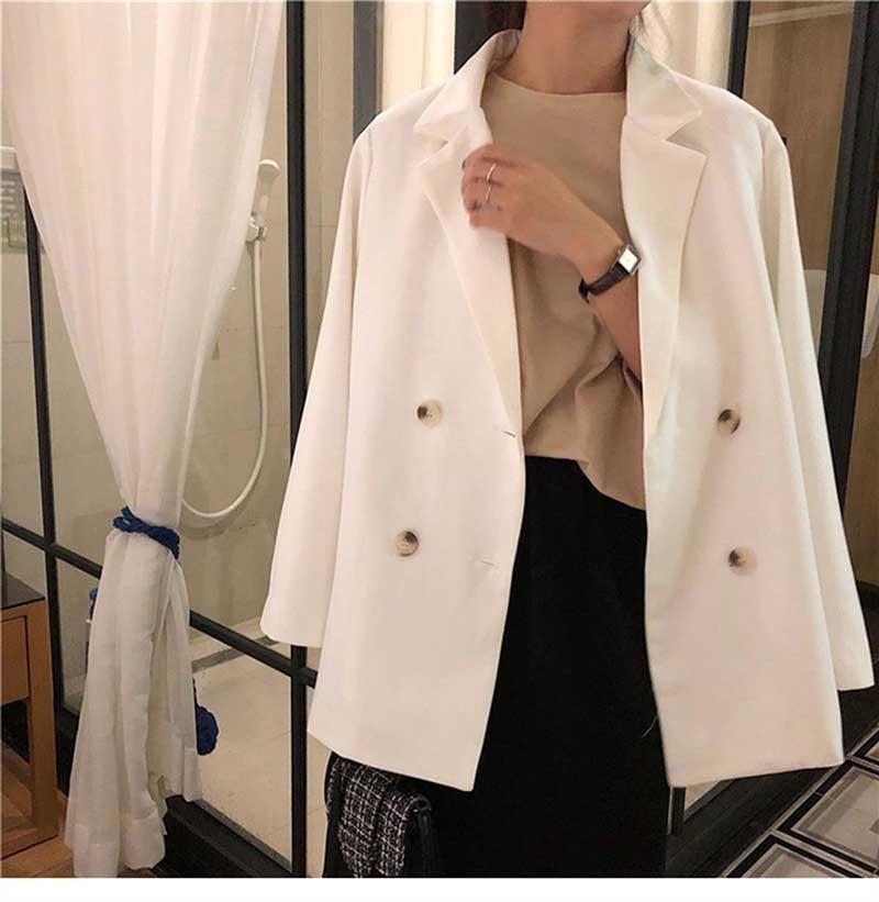 NiceMix Women's Blazers Notched Collar Long Sleeve Office Lady Jackets Coat 2019 Spring Autumn Korean Loose Work Formal Blazers