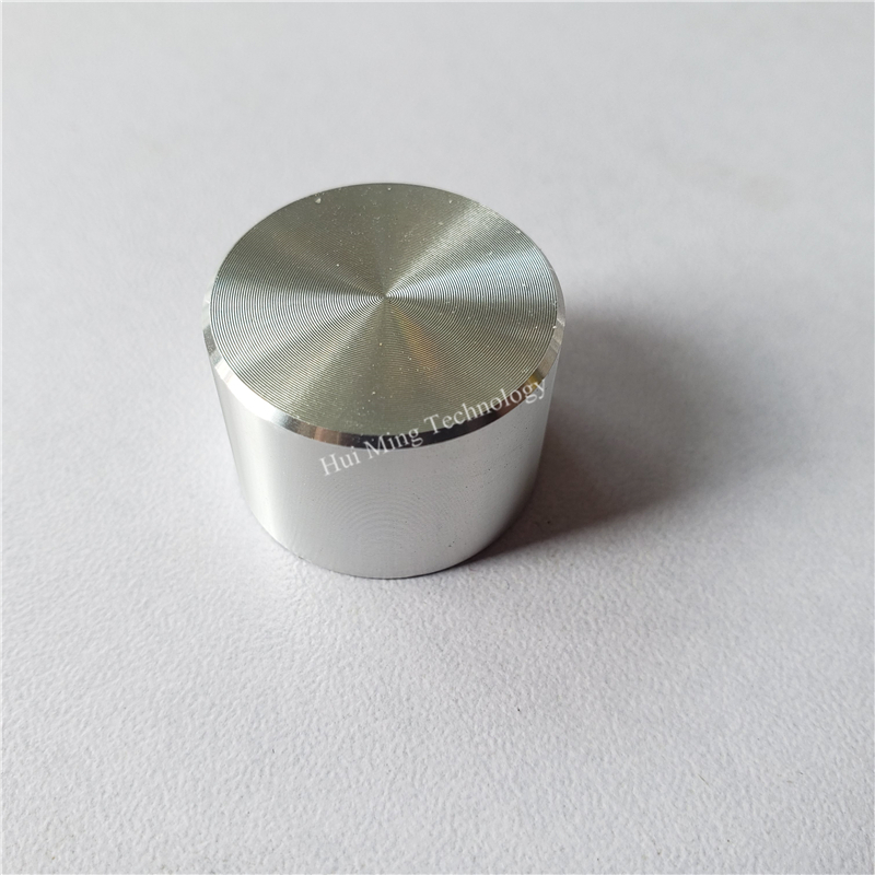 10pcs Aluminum Plastic Cap Knob Potentiometer Knob Smooth 22*15*6mm Silver O Shaft Amplifier Volume Adjustment Aluminum Knob