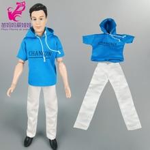 1 set clothese Suit = Shirt + Pants For Ken Doll / Clothes for barbie doll boy friend Ken doll clothes outwear