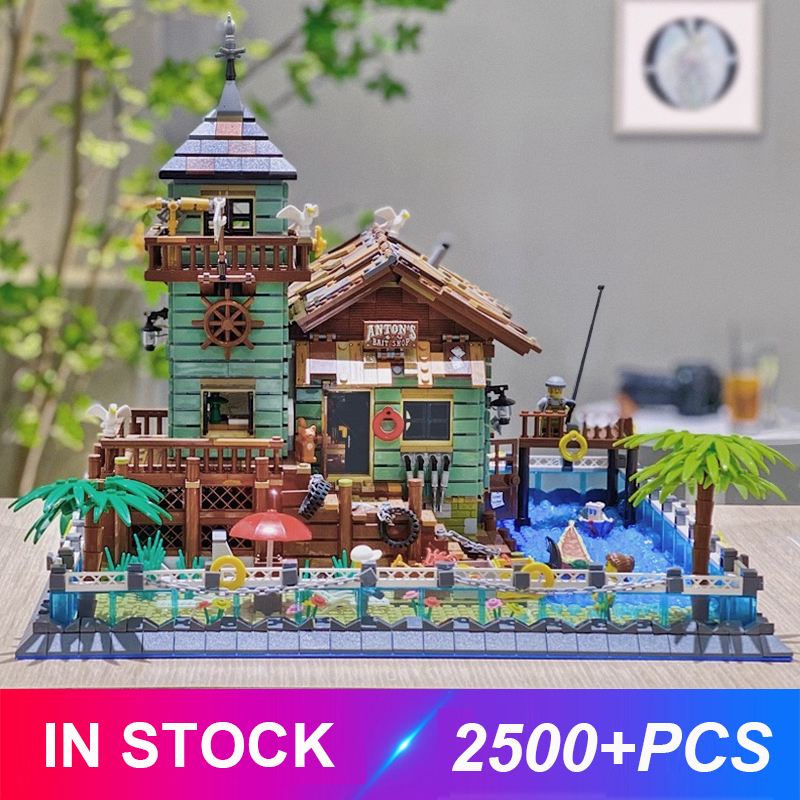 2020 New LepinBlocks Moc The Old Fishing Store Model Building Bricks Educational Toys Gifts For Children Compatible Idea 21310